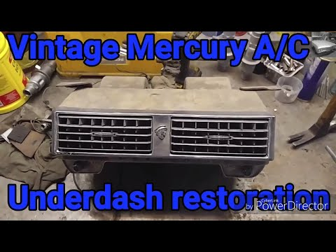Mercury Under Dash Air Conditioning Restoration