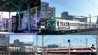 上毛電気鉄道 上毛線 700型電車 と西桐生駅 《 赤城駅で東武200系 りょうもう号とスリーショット 》