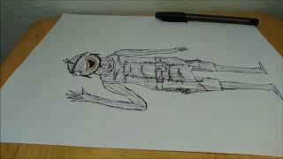 Fortnite Fishstick Skin - Drawing Time Lapse