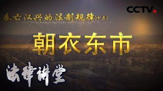 《法律讲堂(文史版)》 20200624 秦亡汉兴的法制规律(十三)朝衣东市| CCTV社会与法