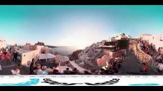 Sunset of Oia-Santorini 360 video(The sunset of Oia is famous around the world. This is the first ever spherical video (360 degrees) that captured this exceptional