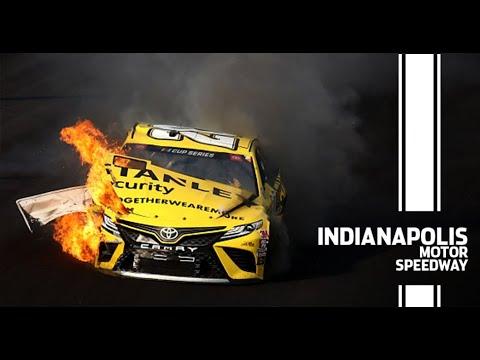 Erik Jones destroys car after hard contact with the wall | NASCAR Cup Series