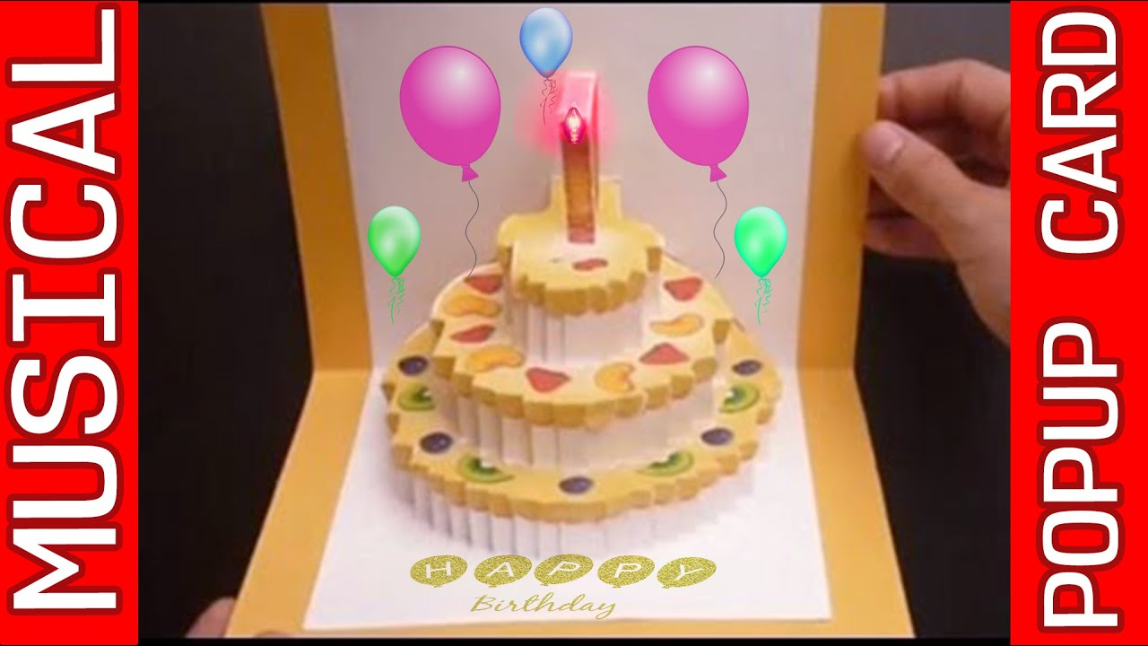 Amazing 3D POP UP MUSICAL Birthday Card