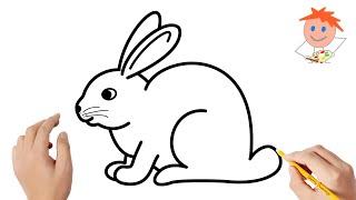 drawing rabbit draw easy step