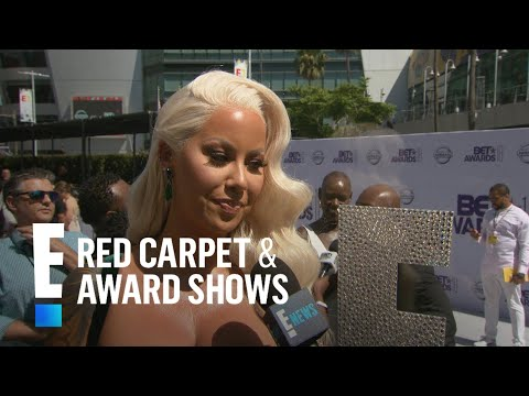 Amber Rose Brings Old Hollywood Glam to 2018 BET Awards | E! Live from the Red Carpet