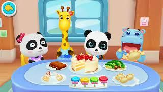 💖 Bus sekolah panda kecil | pergi bebelanja, pentas kostum, mainkan mainan | permainan babybus game