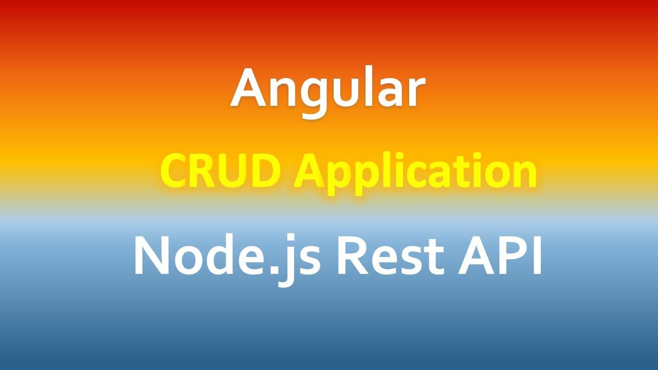 Angular 10 CRUD example with Rest API, Node.js Express, MySQL