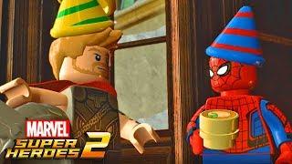A FESTA DOS VINGADORES!! - LEGO MARVEL SUPER HEROES 2 #02