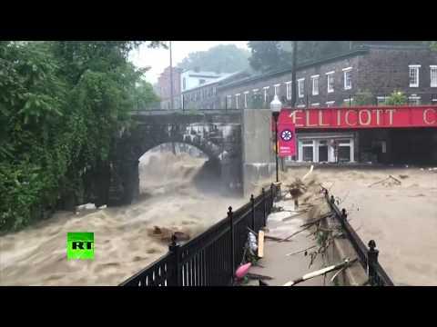 Roads submerged as severe flash flooding hits Maryland