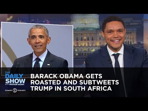 Barack Obama Gets Roasted and Subtweets Trump in South Afric
