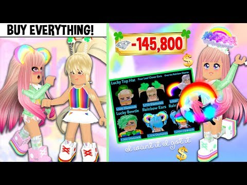 THE MEAN GIRL CHALLENGED ME TO BUY ALL THE BRAND NEW ACCESSORIES IN ROYALE HIGH! RH Brand New Update