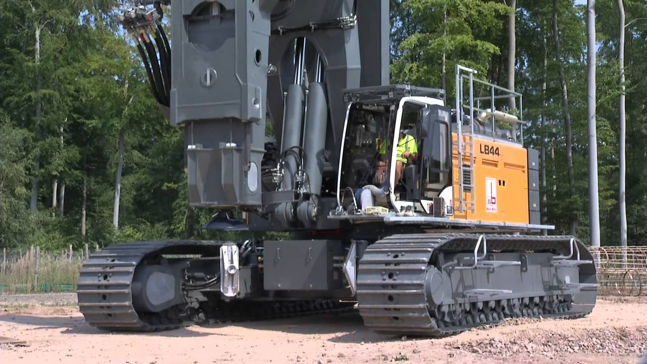 liebherr mr torque the lb 44 rotary drilling rig youtube. Black Bedroom Furniture Sets. Home Design Ideas
