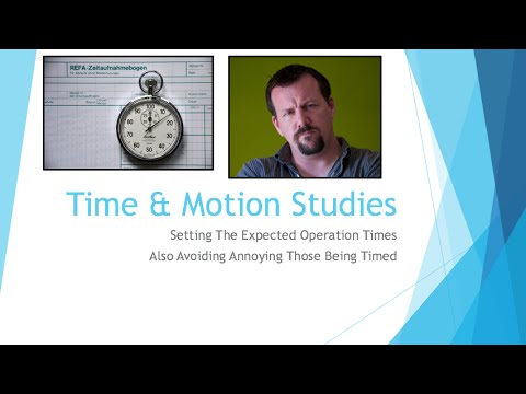 Beginning Engineers Time and Motion Studies