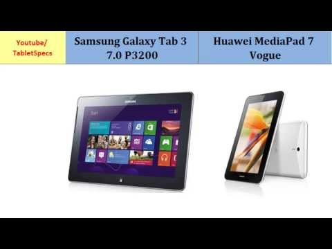 Samsung Galaxy Tab 3 7.0 - Huawei MediaPad 7 Vogue, Quick Full Specs Comparison