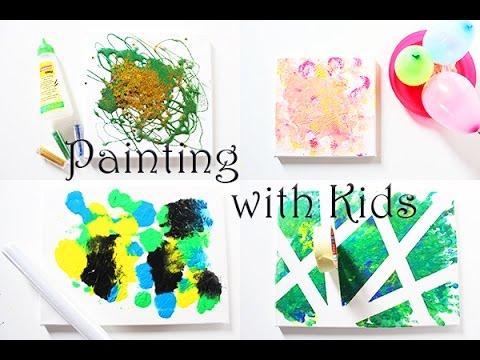 4 Ideen Zum Malen Mit Kindern Auf Leinwand Video Mama Kreativ