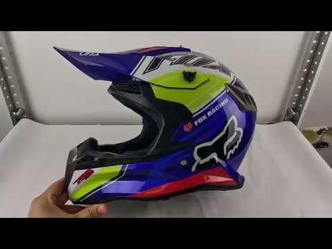 Шлем FOX V1 Blue реплика.