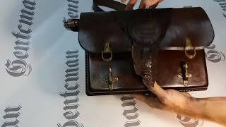 Обзор портфеля из толстой растительной кожи