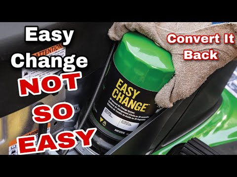 How To Convert Back A John Deere Easy Change Oil Filter System