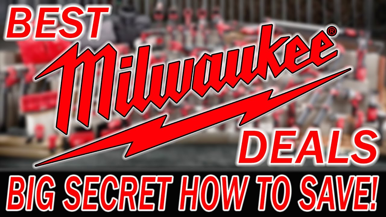 BEST MILWAUKEE TOOL DEALS **with a big catch** SECRET TO SAVINGS!