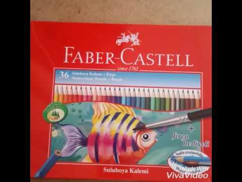 Faber Castell 36li Suluboya Kalem Seti Inceleme Youtube