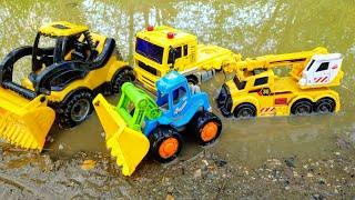 Мультики про машинки. Синий трактор и строительная техника. Детские мультики. Машины игрушки