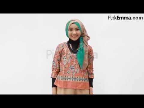 Video Kreasi Jilbab Segi Empat 3 Warna
