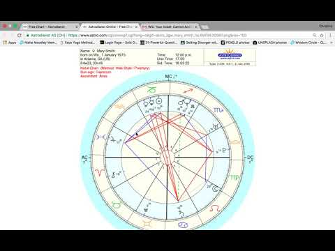 How to cast your Natal Chart using astro.com