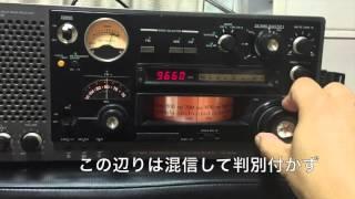 ソニーマルチバンドレシーバーICF-6800Aで、東京都千代田区のマンション...