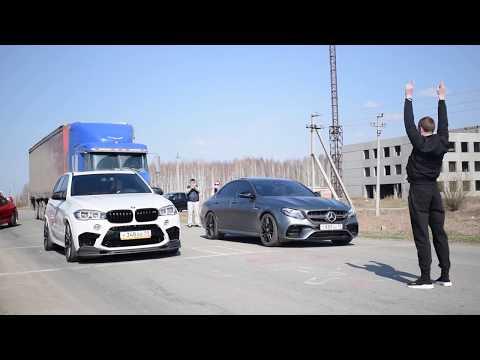 Mercedes-Benz AMG E63S Vs BMW X5M Vs Mitsubishi Evolution 9