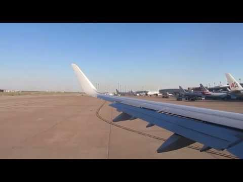 American Airlines Airbus A321 Winglets takeoff at  Dallas Fort Worth International Airport to NY