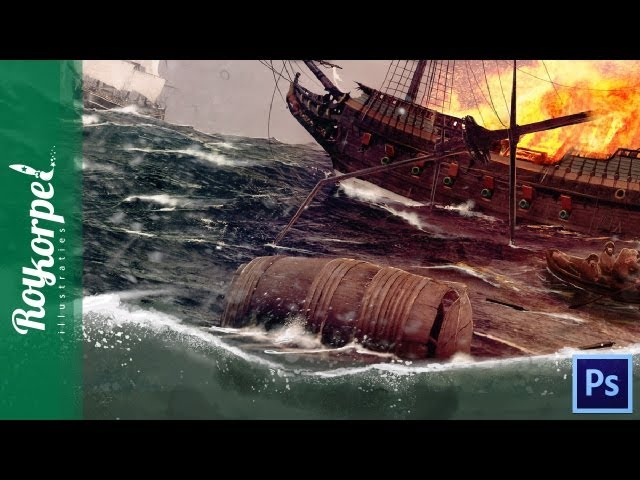 Ocean Battle - Photoshop speedart - time-lapse
