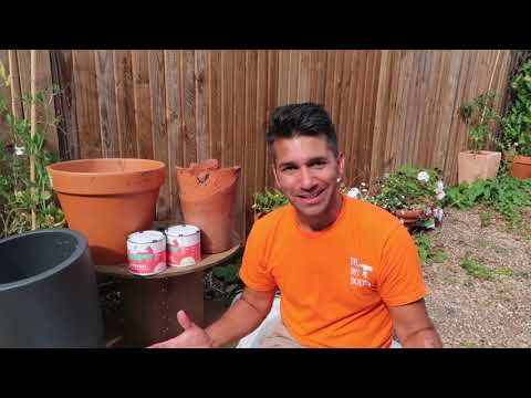 Painting Terracotta and Plastic Garden Pots with Thorndown Wood Paint and DIY Doer Wayne Perrey