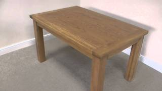 1.8m Oak Dining Table - Country Oak Rustic Dining Furniture