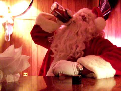 santa drinking jack daniels youtube