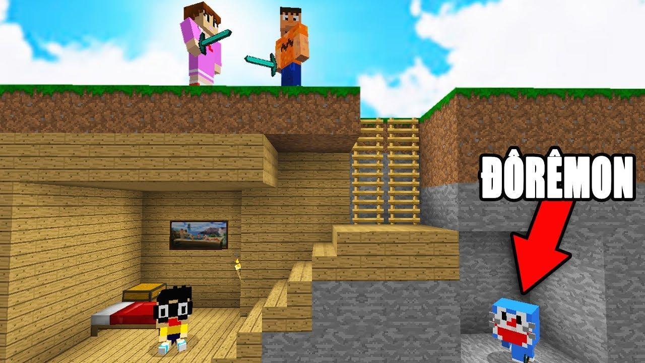 MÌNH THÁCH BẠN TÌM ĐƯỢC DOREMON!! – Minecraft Trốn Tìm