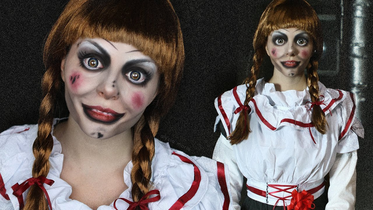 creepy doll makeup tutorial annabelle the conjuring youtube. Black Bedroom Furniture Sets. Home Design Ideas