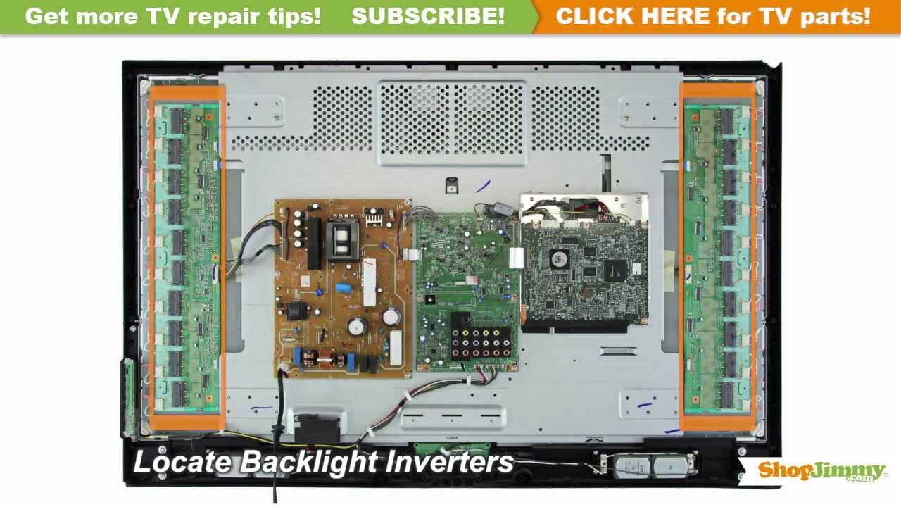 hight resolution of tv turns on backlight inverter immediately turns off tv repair youtube