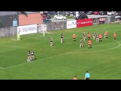 Mål i fra kampen mellom Åsane Damer Fotball og Kongsvinger.