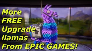 More FREE Upgrade llamas From EPIC GAMES! | Fortnite Save The World