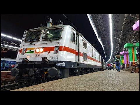 Santragachi WAP7 departs Howrah : Brand new SRC P7 led Adra Passenger!!