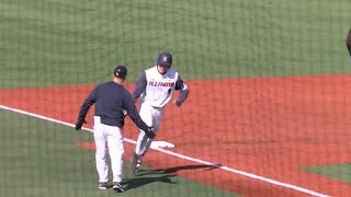 No. 24 Illinois Baseball Highlights vs. CSUN 3/21/18