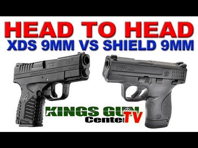 Shooting Sprinfield XDs 9mm vs. Smith and Wesson Shield 9mm