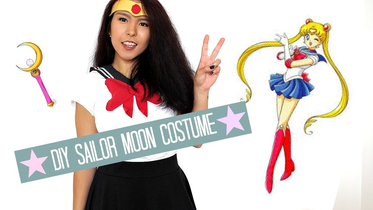 Diy sailor moon character costume youtube diy sailor moon character costume solutioingenieria Image collections