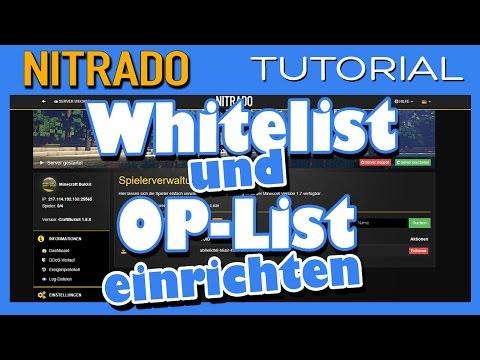 Whitelist Und OP Liste Auf Nitrado Minecraft Servern Einrichten - Minecraft ps4 spieler entbannen