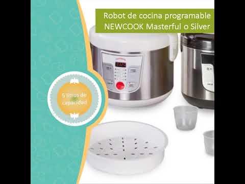 Robot de cocina programable newcook masterful o silver de for Robot de cocina autocook