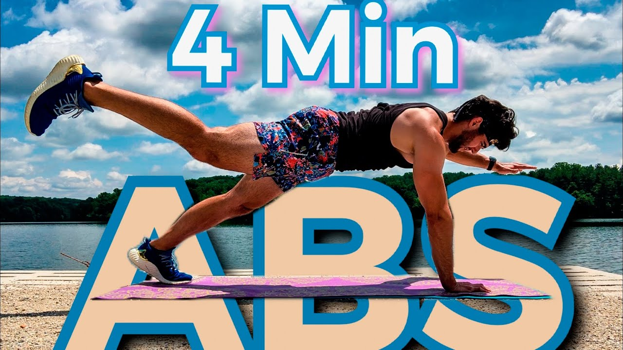 SHEEEESH My ABS WERE BURN'N 🔥 - 4 MIN ABS WORKOUT on 🛶LAKE💦(BODYWEIGHT)