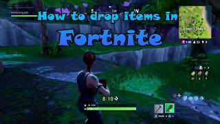 How to drop items in Fortnite Battle Royal Online Mode! (PS4)