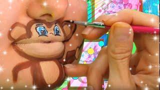 5 Little Monkeys | Chin Paint | FunPop!