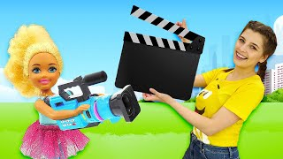 Фото Маленькие Барби снимают кино - Смешные мультики Барби куклы для девочек