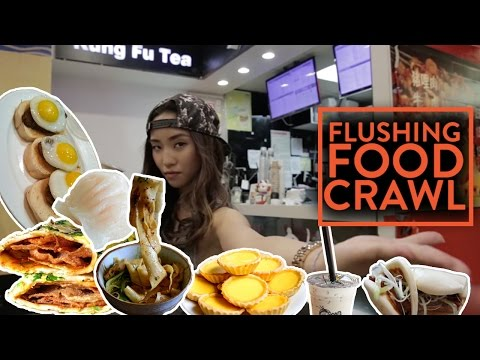 ASIAN FOOD CRAWL - Flushing, Queens NYC